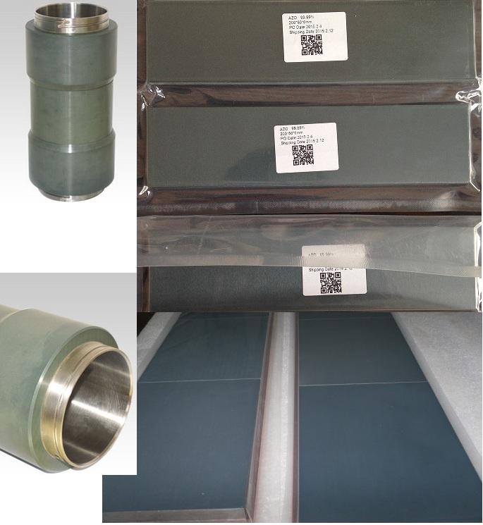 ZnOAl target,Zinc oxide-Al2O3 sputtering target